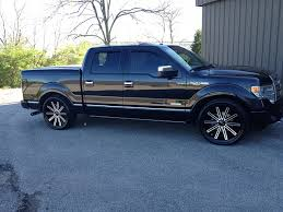ford f150 platinum wheels lowered 2013 platinum with 24 inch wheels ford f150 forum