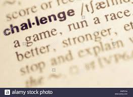 Challenge Dictionary Definition Of Word Challenge In Dictionary Stock Photo 79180420