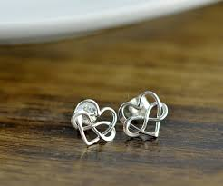 infinity earrings sterling silver infinity heart earrings silver heart earrings