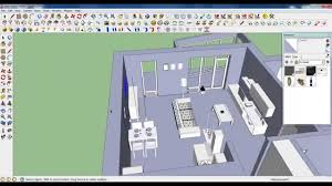 google sketchup tutorial part 05 dining room modeling comode and