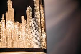 Esszimmer Lampe Gold Xxl Skyline Luxus Hängelampe Hängeleuchte New York Deckenlampe