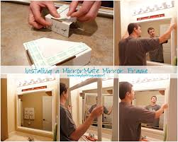 Bathroom Mirror Frame by Installing Bathroom Mirror Frames
