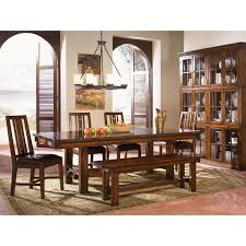 a america mesa rustica mahogany dining bench the simple stores