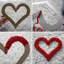 valentines day home decorations valentine days outside diy maroon hearts wall decoration for