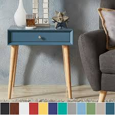Accent End Table Marin Danish Modern 1 Drawer Accent End Table Inspire Q Modern