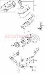 porsche cayenne pdcc power steering tandem tank pressure hose pdcc for