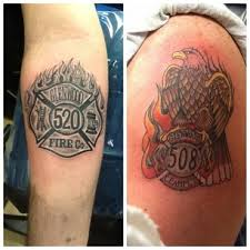 eagle and maltese cross strike the box firefighter tattoos