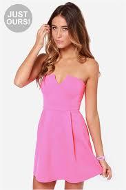 hot pink dress strapless dress hot pink dress 36 00