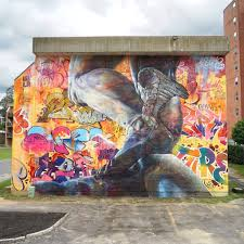 7 best murals of the month august 2017 streetart today 2 pichiavo the spanish graffiti kings pichi avo amaze friend and foe with their badass paintings this colorful mural made for pow wow