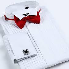 aliexpress com buy men u0027s french cuff tuxedo shirt solid color