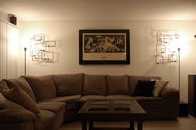 livingroom lamps living room captivating brown curvy sofa installed next to