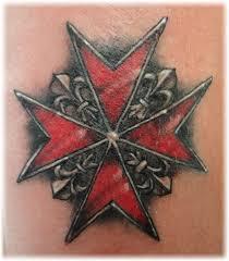 maltese cross design firefighter tatoos