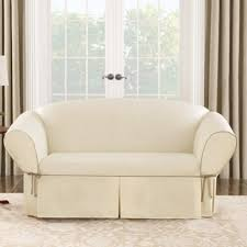Walmart Slipcovers For Sofas by Sure Fit Cotton Duck Sofa Slipcover Walmart Com
