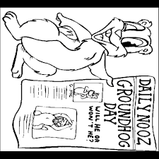 Awesome Groundhog Day Coloring Pages Free Printable Groundhog Color Page