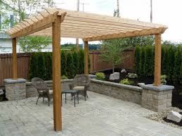 Backyard Arbors Triyae Backyard Pergola Pictures Various Design Image With