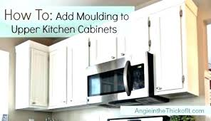 how to add crown molding to kitchen cabinets kitchen molding ideas medium crown molding ideas for kitchen
