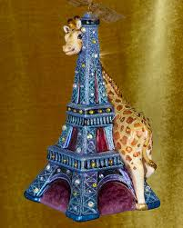 strongwater eiffel tower giraffe ornament