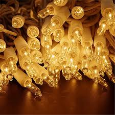 orange mini lights white wire zitrades christmas lights 100 count clear mini party string lights