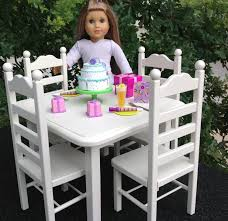 american doll dining table american doll table 4 chair set