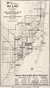 Miami Florida Map by Historical Boundaries Of Miami Florida 1925