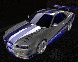 nissan r34 fast and furious sport cars and the concept nissan skyline gtr from 2 fast 2 furious