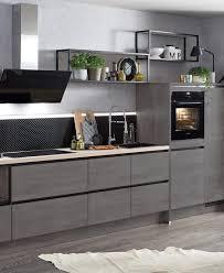cuisine gris ardoise modèle de cuisine clara ixina