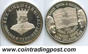mardi gras deblume crescent city doubloon traders krewe of rex web page