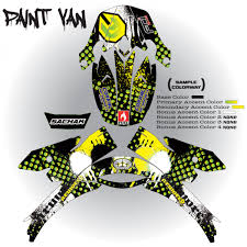motocross helmet painting paint van shoei armored graphix