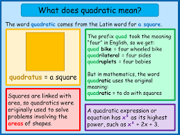 what does quadratic mean mnm for students
