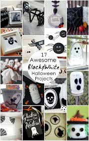 black and white halloween projects and block party rae gun ramblings