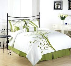 Sanderson Dandelion Clocks Duvet Cover Chezmoi Collection 7 Pieces Green Tree On White Queen Comforter