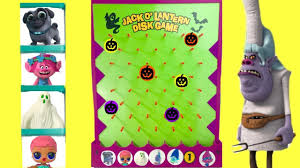 save the trolls puppy dog pals halloween jack o u0027 lantern disk drop