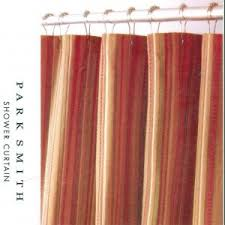 Brown And Gold Shower Curtains Newport Stripe Rust Brown Gold Fabric Shower Curtain