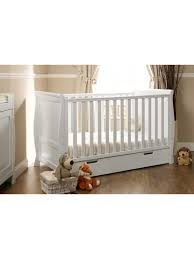 Sleigh Cot Bed White Obaby Stamford White Sleigh Cot Bed Babies Nursery