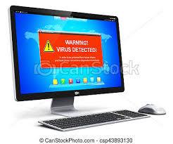 ecran ordinateur de bureau écran ordinateur virus pc bureau attaque avertissement
