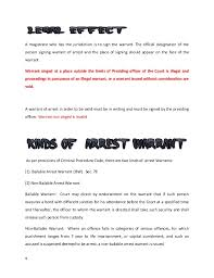 Bench Warrant Procedures Criminal Procedure Code 1898 Arrest Warrant And Mode Of Productio U2026