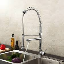 Kitchen Sink Faucet With Pull Out Spray by Lightinthebox Deck Mount Single Handle Solid Brass Spring Kitchen
