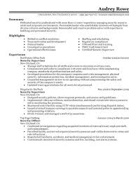 sample resume for on campus job best security supervisor resume example livecareer