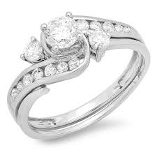 wedding ring sets for women unique 1 carat diamond wedding ring set for women in white