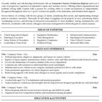 Automotive Technician Resume Samples by Printable Resume Template Sample For Applying Auto Technician Or