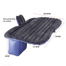 tek motion premium black pvc car travel inflatable mattress air