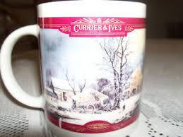 houston harvest gift products currier and ives houston harvest gift products mug winter farm