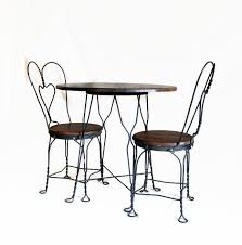 Wrought Iron Bistro Table And Chairs Antique Ice Cream Parlor Table And Chair Set Wrought Iron And
