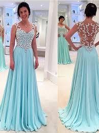 light blue formal dresses buy princess a line floor length sky blue prom dress with appliques
