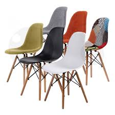 replica eames fabric padded dining chair grey x4 la bella