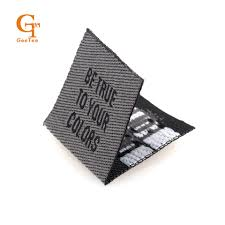 Customized Flag Garment Center Foldmain Clothing Labels Customized Name Woven