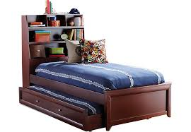 ivy league cherry 4 pc twin bookcase bed w trundle trundle beds