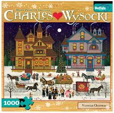 charles wysocki cards lights card and decore