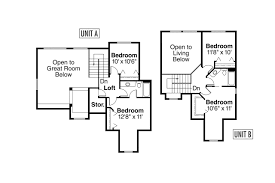 Floor Plans Duplex Country House Plans Carmichael 60 014 Associated Designs