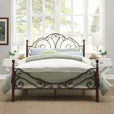 bedroom decorative pillows design with wrought iron bed frames